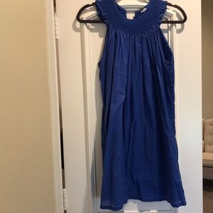 J Crew Royal Blue smocked top dress Small